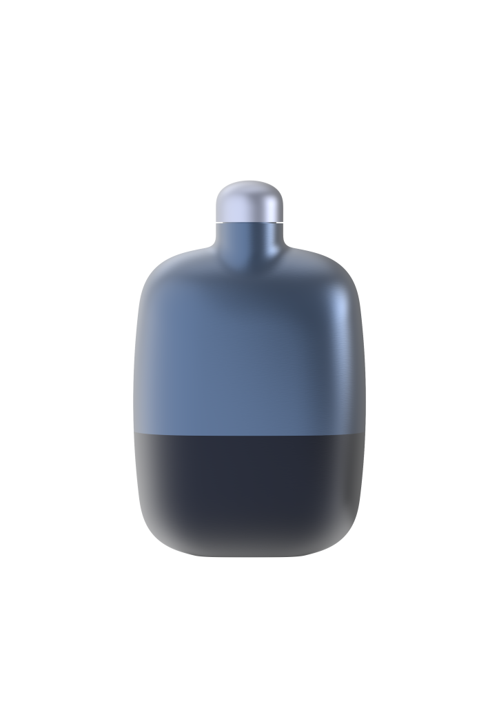 12. Grappa Flask Dark Blue by S&B_filled with Grappa Nonino Monovitgno® Chardonnay in Barriques