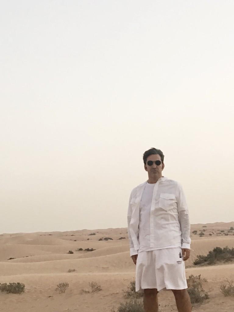 João Miguel Simões in the desert Dubai